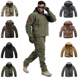 $enCountryForm.capitalKeyWord Australia - Tactical Sets Men Sharkskin Softshell TAD Jacket Or Pants Uniform Hiking Camping Waterproof Camouflage Hunting Clothes