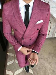 $enCountryForm.capitalKeyWord Australia - Latest Coat Pant Designs Linen Men Suit For Wedding Slim Fit Skinny Suits Men Costume Homme Groom Tuxedo Business Suits 2 Pieces