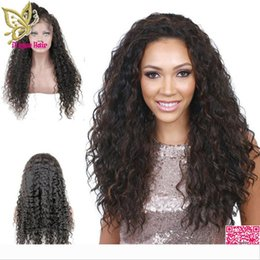 brazilian baby curl virgin hair NZ - Brazilian Virgin Human Hair Lace Front Wigs Loose Curly Glueless Full Lace Human Hair Wig Curls With Bleached Knots Baby Hair