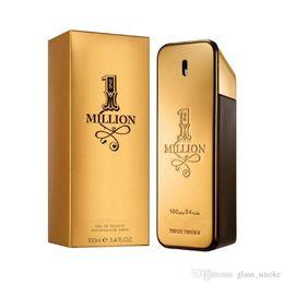 Wholesale Good Fashion Freshener EDT 100ml Men Perfum Gold 1 Million Wood Flavor Lasting Fragrance Spray Gentleman Fragrance