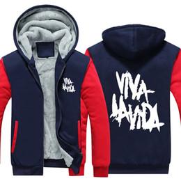 $enCountryForm.capitalKeyWord NZ - US EU SizeViva la vida - Coldplay Rock Band Hoodie Sweatshirt Men's Fleece Winter Thicken Zipper Hoodies Jacket super warm Sweatshirt