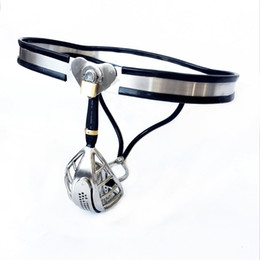 $enCountryForm.capitalKeyWord Australia - 2019 Newest male chastity belt panty metal bondage cock cage penis sleeve stainless steel chastity device sex toys for men cbt