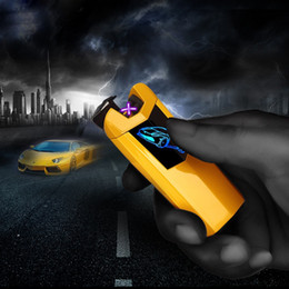 $enCountryForm.capitalKeyWord Australia - New Car Cool Colorful USB Charging Double ARC Lighter Fingerprint Sensing Portable Innovative Design For Cigarette Smoking Pipe Tool DHL