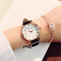 $enCountryForm.capitalKeyWord Australia - Brown Leather Strap Ladies Wrist Watches Classic Shool Student NEW HOT Selling Women's Luxury Watch Wholesale Free Shippinng Analog Watches