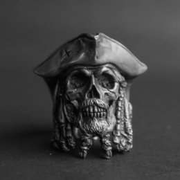 male finger rings Australia - Us Size 7-14 Vintage Caribbean Pirate Captain Men Signet Rings European Fashion Personality Male Finger Rings Anel Anillos