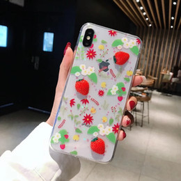 iphone pineapple case Australia - Mytoto TPU Transparent Hello Summer Stereo Strawberry Pineapple Plants And Flowers Phone Case For iphone 6 6S 78 Plus X XS XR XS MAX