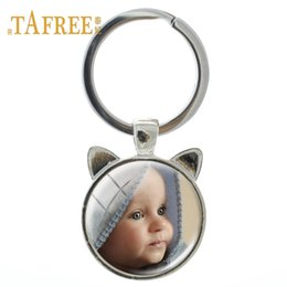 $enCountryForm.capitalKeyWord NZ - TAFREE Personalized Custom Keychain Photo Of Your Dog cat pet Custom designed Photo Ear Shaped Jewelry NA01