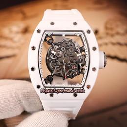 $enCountryForm.capitalKeyWord Australia - Top-level version RM055 Skeleton Dial White Nano-ceramic Composites Case Japan Miyota Automatic RM 055 Men Watch White Ruubber Strap Watches