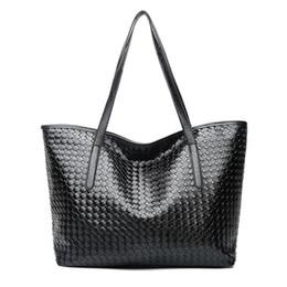 6a32c71925c8d Big Bag Pu Mode Sling Schulter Einkaufstasche Weave Einfache Handtasche  Elegante Tote Shopper Taschen Für Weibliche Frauen Damen Handtaschen