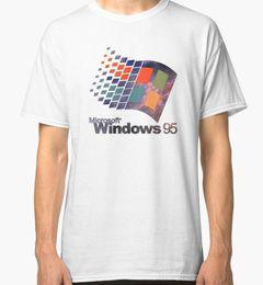 Discount galaxy clothes shorts - Windows 95 - Galaxy Men's White Tees Shirt Clothing Size S - 2XLFunny free shipping Casual Tshirt top