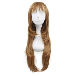 Long Hair Straight UK - Long Blonde Straight Heat Resistant Wavy Women's Cosplay Hair Full Wig Wigs New