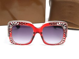 Mosaic Frames Australia - 3862 Luxury Women Designer Sunglasses Metal Square Frame Mosaic Shiny Crystal Colorful Diamond Top Quality UV400 Lens Come With Origina