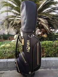 $enCountryForm.capitalKeyWord NZ - HONMA golf bag men and women High quality woven PU leather golf standard bag black golf cart bag