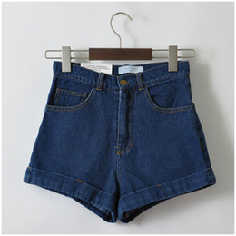 lightweight jeans for summer Canada - Euro Style Women Denim Shorts Vintage High Waist Cuffed Jeans Shorts Street Wear Sexy Shorts For Summer Spring Autumn Y19072001