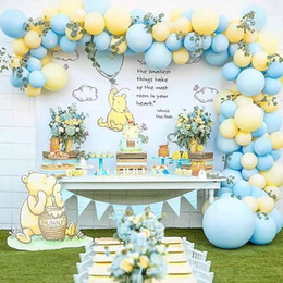 balloons for weddings NZ - 110pcs Macaron Blue Yellow Pastel Balloon Arch Set for Boys Girl Birthday Party Background Wall Decoation Wedding Party Supplies