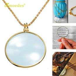 Discount sexy glasses - Stylish Jewelry Creative six Magnifier Pendant Necklace Magnify Glass Reeding Decorativ Monocle Necklace Accessories Sex