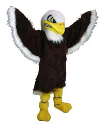 Christmas Movie Costumes UK - Bald Eagle Mascot Costumes 100% Real Picture For Adults Christmas Party Halloween Outfit Fancy Dress Suit Free Shipping