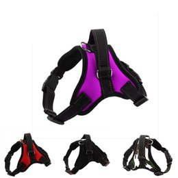 $enCountryForm.capitalKeyWord Australia - Dog Vest Harnesses Safety Lock Buckle Adjustable strong Padded Chest Large and Medium heavy duty Dog harness Supplies Accessories RRA1865