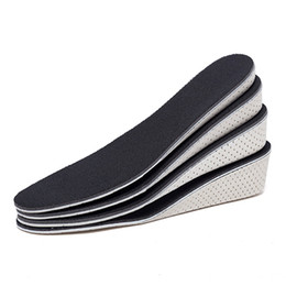 Half sport sHoe online shopping - Women Men Height Increase Insole Breathable Unisex Full Half Insoles Heel Insert Sports Shoes Pad Cushion Breathable Deodorant Insole