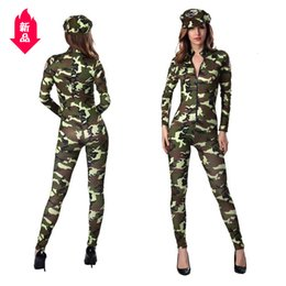 women sexy fairy costume Australia - Game Uniform Sexy Conjoined Camouflage Woman Police Officer Pretend Camouflage Instructor Clothing Evening Show Ds Show Clothes