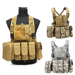 Wargame paintball online shopping - Molle Tactical Vests Adjustable Outdoor Hunting Vest Magazine Pouches CS Wargame Paintball Waistcoat Vest