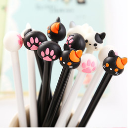 Bulk Pens Australia - 60pcs set Kawaii Gel Pen Cute Cat and Claws Pens for School Office Supplies Students Writing Kids Korean Stationary Gift Items Bulk