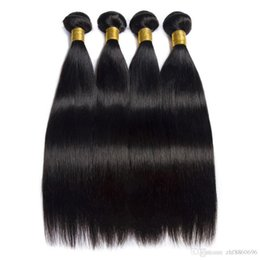 Buy Wholesale Brazilian Human Hair UK - Brazilian Straight Hair Weave Bundles 100% Human Hair Bundles Natural Non Remy Hair Extensions 3 or 4 Bundles Can Buy