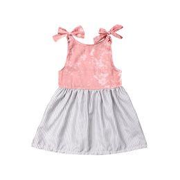 $enCountryForm.capitalKeyWord UK - Newborn Infant Toddler Kids Baby Girls Summer Cute Sleeveless Striped A-Line Princess Dress Sundress Clothes Costume Clothing