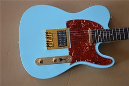 Discount paint electric guitar - Free Shipping Custom shop TL electric guitar,Rosewood Fingerboard,blue paint,red pickguard,2* pickups,Real picture