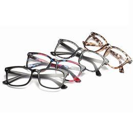 Clear Computer online shopping - Retro Square Optical Glasses Classic Full Frame Men Women Computer Clear Goggles Eyeglasses Unisex Reading Eyewear LJJT1030