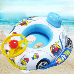 $enCountryForm.capitalKeyWord NZ - Summer Baby Inflatable Pool Ring lap Swim Seat Float Boat Baby Swim Pool Toys Car Shape Aid Trainer with Wheel Horn