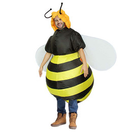 $enCountryForm.capitalKeyWord Australia - Inflatable Bumble Bee mascot Costumes for Women Halloween Adult Fancy Dress Outfit Animal Purim Party Blowup Carnival