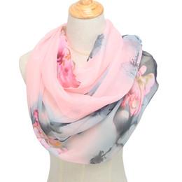 Design Shawl Chiffon UK - spring and autumn chiffon women scarf polyester geometric pattern design long soft silk shawl