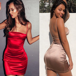 $enCountryForm.capitalKeyWord Australia - Summer Dress 2019 New Sexy Sling Wild Lacing Halter Dress Night Club Women 3 Color S-XL