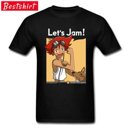 Wholesale Cowboy Bebop T Shirt Bull Terrier With Edward Anime Comic Funny Design Hipster Tee Shirt Boy Japan ACDC Cartoon
