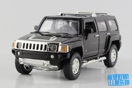 kids electric car free ship UK - Free Shipping Diecast Toy Model 1:32 Scale Hummer H3 SUV Sport Car Pull Back Sound & Light Educational Collection Gift For Kid
