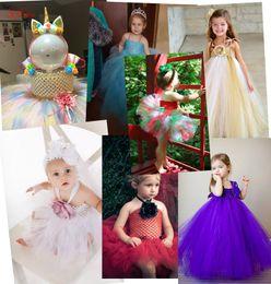 Red White Blue Tutus Australia - Baby Girl 15*15CM 6 Inch Crochet Tutu Tube Tops Chest Wrap Wide Crochet Tops for DIY tutu Dress supplies 6Z SH940