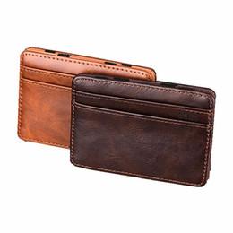 $enCountryForm.capitalKeyWord UK - New Fashion Pu Leather Credit Card&id Card Holder Mini Wallets Bank Card Bag Case Casual Money Bag Unisex Men&women Coin Purse