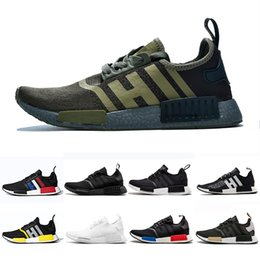 c8f8f826c84b8 2019 atmos Thunder Bred NMD R1 Running shoes OREO Runner Primeknit OG atmos Japan  Triple black White Men Women Runner Sports sneakers 36-45