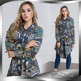 Ingrosso Top da donna Camicetta stampata Camicia musulmana Abito Kimono Plus Size Abito Medio Oriente Ramadan Arab Worship Service Abbigliamento islamico