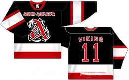 vikings jersey xxl NZ - custom jersey 5XL 6XL Rare Vintage Amon Amarth - Viking Hockey Jersey Embroidery Stitched Customize any number and name Jersey