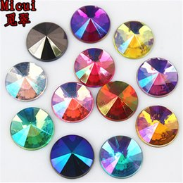 glue for jewelry making UK - 200Pcs 10mm AB Color Round Shape Acrylic Rhinestones Glue On Flatback Pointed Crystal Stones Strass For DIY Crafts Jewelry Making ZZ58