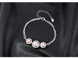 $enCountryForm.capitalKeyWord Australia - S925 sterling silver bracelet micro inlay 3A zircon natural freshwater pearl fashion versatile jewelry