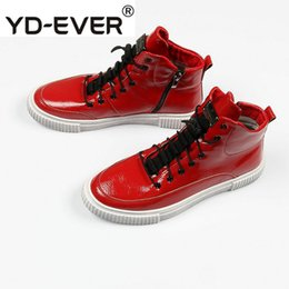 fa61c9fc266 High Elevator Shoes Men Australia - Red Hidden Height Increasing Shoes  Trainers Skate Creepers Patent Leather