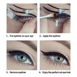 eyeliner guide template Australia - 10pcs Eyeliner Stencil Kit Model For Eyebrows Guide Template Shaping Maquiagem Eye Shadow Frames Card Makeup Eye Brow Tools
