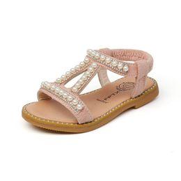 85e37e8dde5 2019 nuevo Summer Girls Sandalias perla princesa niñas zapatos niños zapatos  Moda Niños Sandalias Sandalias de playa Gladiador niños diseñador de zapatos  ...