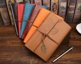 vintage loose leaf paper 2019 - Vintage Leaf notepad Creative student Notebook Classical Travel Diary With Leaf Loose Sheet Vintage Gift blank sketches