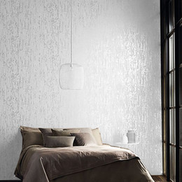 Plain Solid White Wallpaper For Bedroom Walls Thick Embossed Texture Room  Wall Paper Roll Home Decor