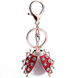 Beetle Pendant UK - Bag hanging insect lady beetle foreign trade to the mobile phone's accessories car metal pendant key festival gifts