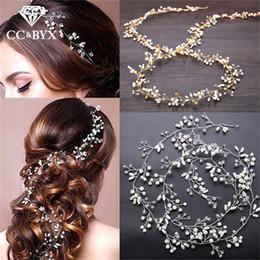 $enCountryForm.capitalKeyWord NZ - CC Wedding Jewelry Headbands Hairbands Crystal Pearl Engagement Hair Accessories For Bride 100% Handmade Headdress Romantic M035
